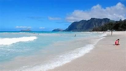 Beach Gifs Christmas Giphy Holiday Hawaii Waimanalo
