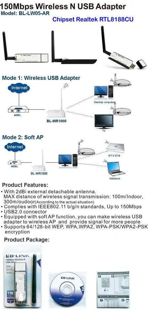 lb link wifi usb pour pc de bureau ordinateur portable