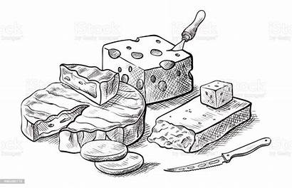 Cheese Fromage Platter Making Types Vectoriels Dessins