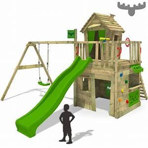 Spielturm Schaukel Rutsche : fatmoose crazycat comfort xxl spielturm kletterturm schaukel rutsche kaufladen ebay ~ Frokenaadalensverden.com Haus und Dekorationen