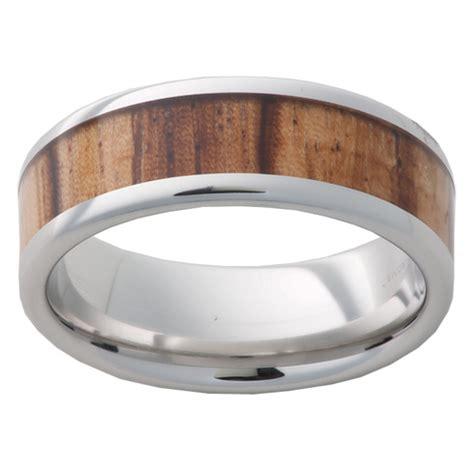 cobalt chrome ring mm  zebra wood inlay ccpzebra