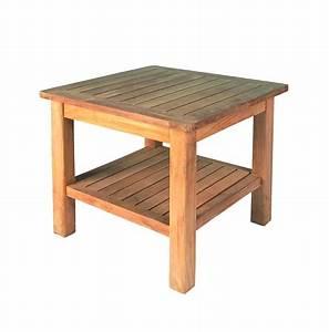 Beistelltisch Garten Holz : garten beistelltisch 50x50 h43cm teak esstische rund und ausziehbar ~ Indierocktalk.com Haus und Dekorationen