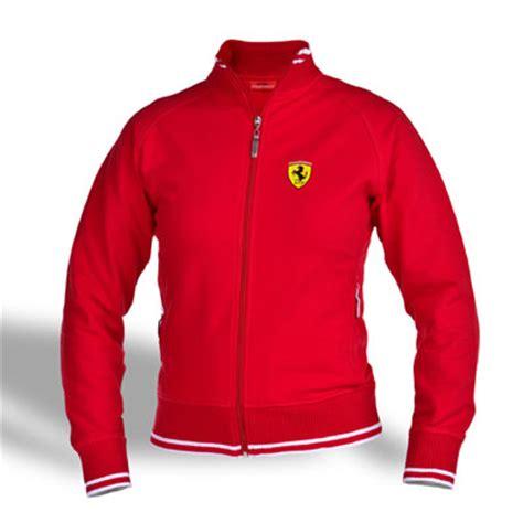 ferrari clothing ferrari ladies zip sweatshirt red fp8648
