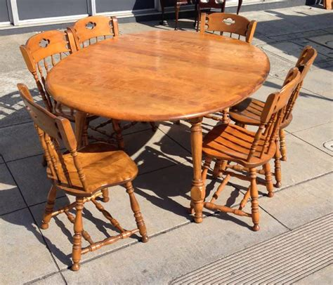 Colonial Dining Room Furniture by Uhuru Furniture Collectibles Sold Maple Colonial Dining