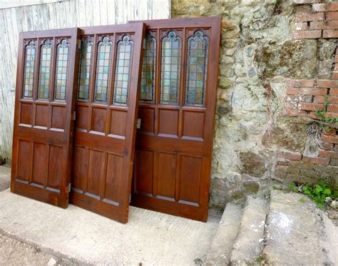 Pine Door Stained Glass Room Divider