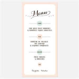 menus de mariage menu de mariage kraft vintage rétro kraft