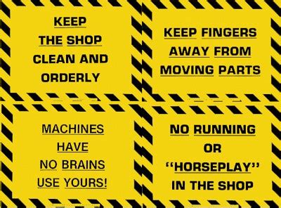plastic laminated safety sign put tools