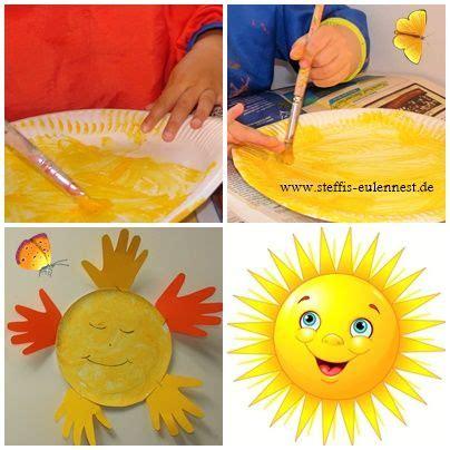 basteln sommer grundschule sonne basteln mit kindern sommer basteln f 252 r kinder handabdr 252 cke handabdruck pappteller
