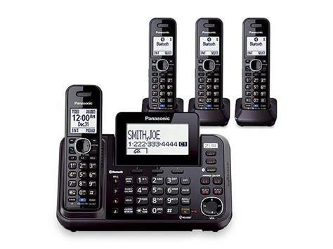 quot panasonic kx tg9544b 4 handset cordless phone quot newegg