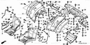 Honda Atv 2004 Oem Parts Diagram For Rear Fender