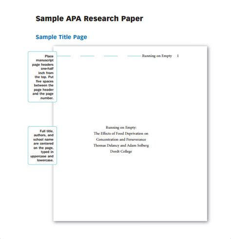 Blank Apa Format Template by Sle Report Writing Format 6 Free Documents In Pdf