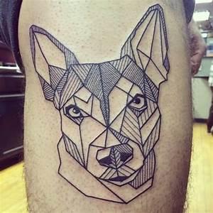 8+ Wonderful Dog Tattoos On Thigh