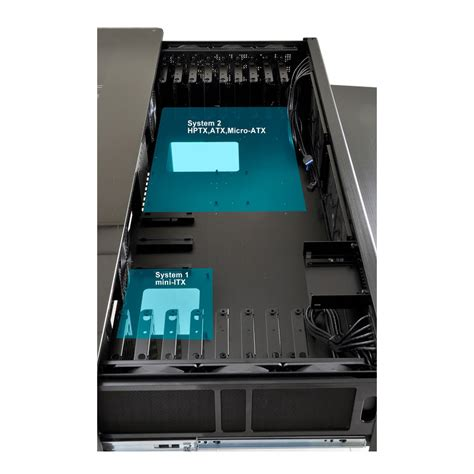 boitier bureau lian li dk 02x pour 2 systèmes bureau boitier pour