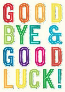 Good Bye   Leaving Card ILL1025SCR
