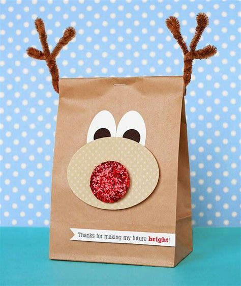 25 handmade christmas ideas reindeer bags and the christmas