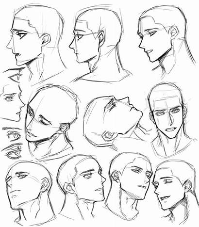 Anime Drawing Face Male Poses Reference Expressions
