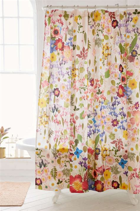 outfitters shower curtain pressed flower shower curtain outfitters