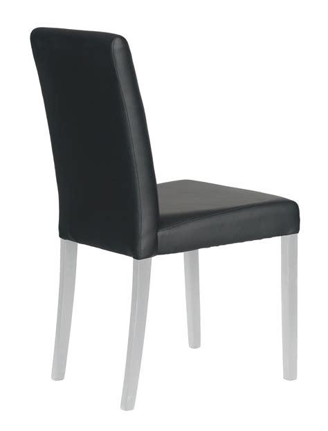 chaise salle a manger noir chaise de salle à manger lot de 2 coloris noir blanc