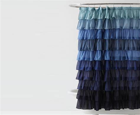 Ruffled Shower Curtains For Bathroom Interiors