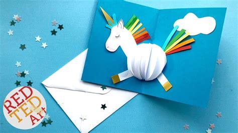 pop  unicorn diy card easy card making ideas youtube