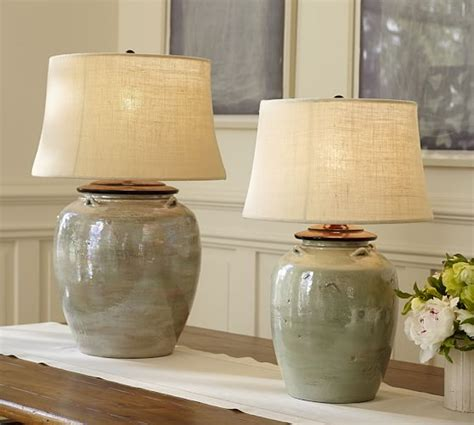 ceramic base table ls courtney ceramic table l base blue pottery barn