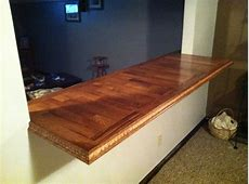JW's homemade countertop made from left over flooring