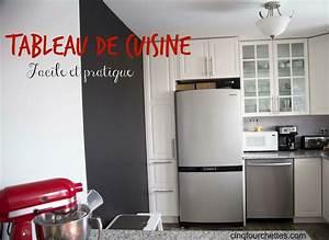 Tableau Ardoise Cuisine : comment faire un tableau noir pour la cuisine cinq fourchettes ~ Teatrodelosmanantiales.com Idées de Décoration