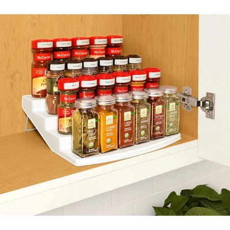 Spice Rack Organizer For Cabinet by Youcopia Spice Steps 4 Tier Cabinet Spice Rack Organizer