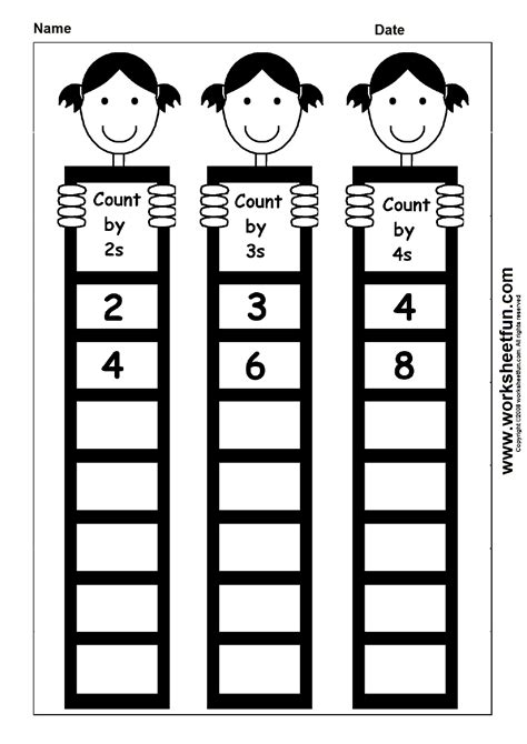 Skip Counting By 2, 3 And 4  1 Worksheet  Free Printable Worksheets Worksheetfun
