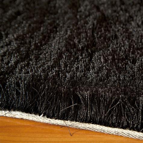 Silky Shag Rug by Silky Shag Rug Black 2 0 Quot X 3 0 Quot Momeni Rugs