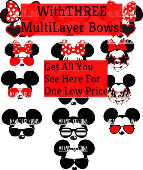 Svg, jpg, png, pdf files included. Minnie Mickey Sunglasses/Disney Svg/Mickey Mouse Head