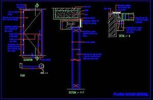 Flush Door Fabication Detail Plan n Design