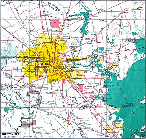 houston texas map