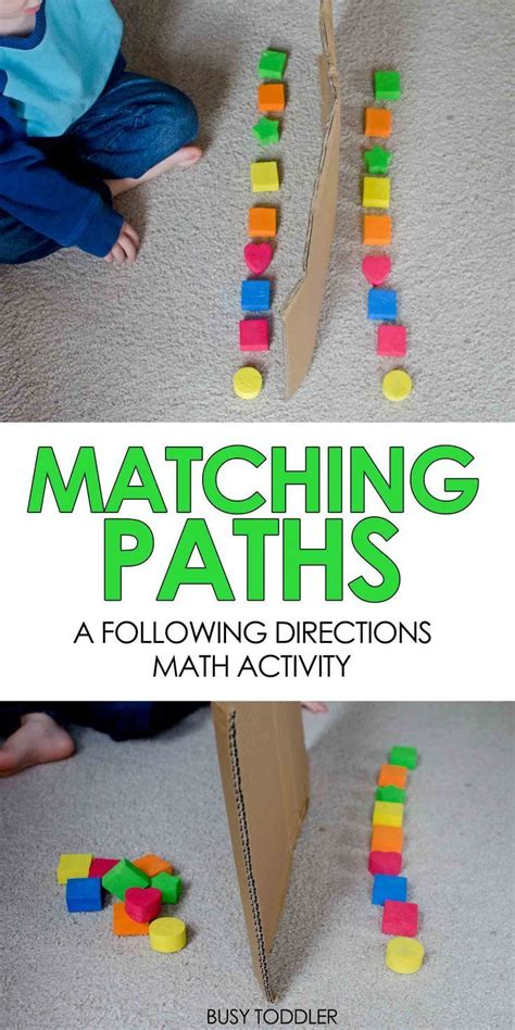 matching paths easy math activity busy toddler easy