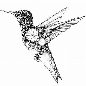 My Mechanical Birds Drawn With Ink | Bored Panda