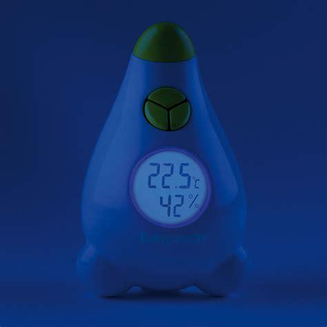thermomètre hygromètre chambre bébé thermomètre hygromètre blanc vert de babymoov