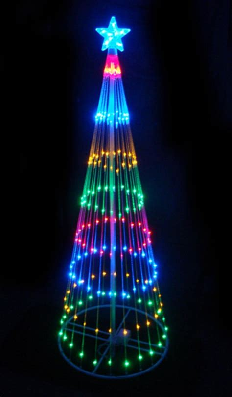 christmas led light show 6 multi color led light show cone christmas tree just