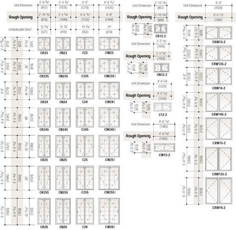 image result  standard  build window sizes window sizes chart standard window sizes