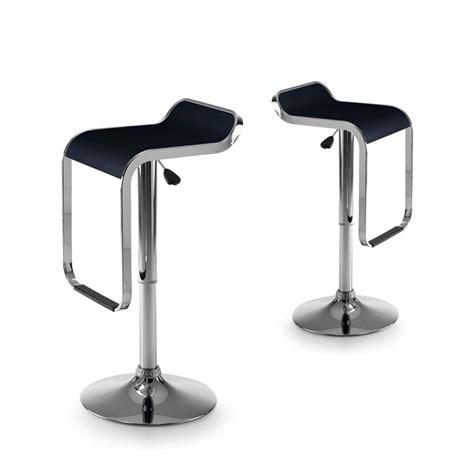 chaise de cuisine hauteur 65 cm lot de 2 tabourets de bar design noir et chromé 39 las vegas