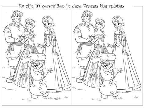 Kleurplaten Voor Bejaarden by N 2 Puzzel Frozen Zoek De Verschillen