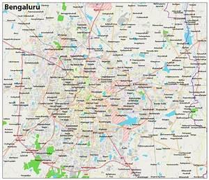 Bangalore City Map Bangalore Bengaluru