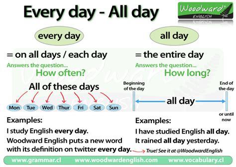 day   day english grammar