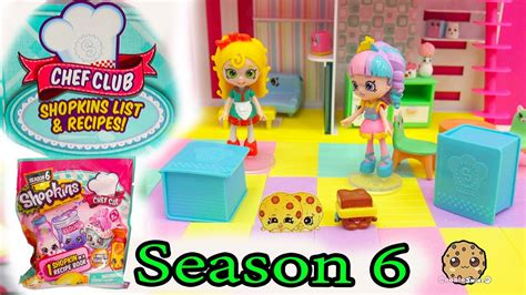 2 season 6 shopkins chef club surprise blind bags with mystery shopkins inside recipe book youtube