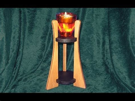tall candle holder woodworking youtube