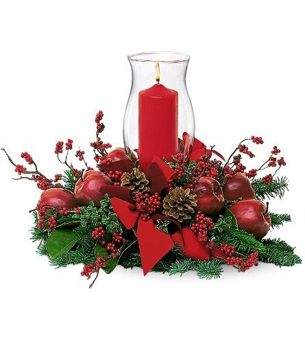 christmas centerpieces delivered hurricane pillar centerpiece for delivery