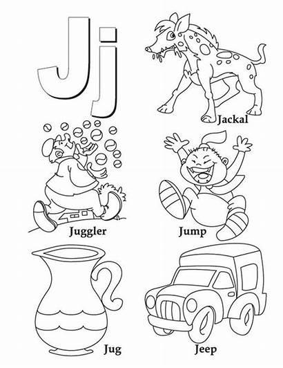Letter Coloring Alphabet Letters Words Sketch Preschool