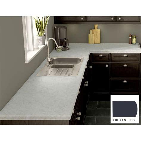 White Laminate Countertops by Wilsonart White Carrara Laminate Custom Crescent Edge C F