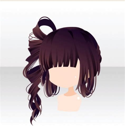 dark brown long hair  chibi hair manga hair anime hair