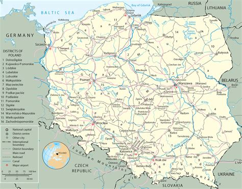 Pologne Carte Europeenne by Map Poland Travel Europe