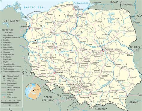 poland map rivers